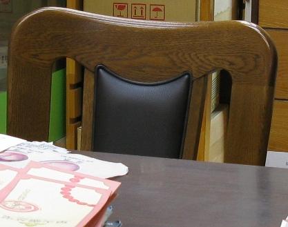 漢方相談来客用の椅子